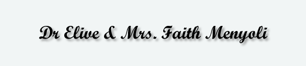 Dr Elive & Mrs. Faith Menyoli