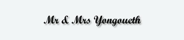 Mr & Mrs Yongoueth