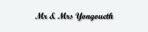 Mr & Mrs Yongoueth